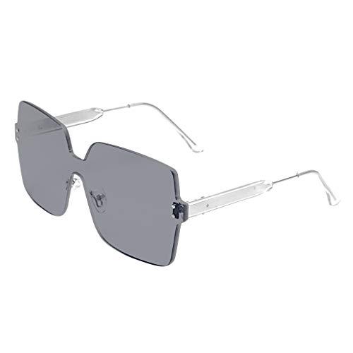 KUDICO Unisex Sonnenbrillen Polarisiert Großer Rahmenlos Brillen, Anti Reflexion UV 400 Augenschutz Stilvolle Oversized Lässige Radiation Protection Brille(A, One Size)