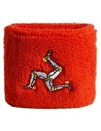 Digni® Poignet éponge avec drapeau Royaume-Uni Île de Man, pack de 2