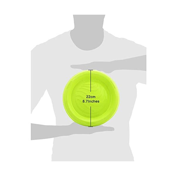 LaRoo Dog Flying Disc Dog Frisbee ABS Material Floatable Dog Toys Pet Frisbee for Puppies, Small, Medium and Large Dogs 5