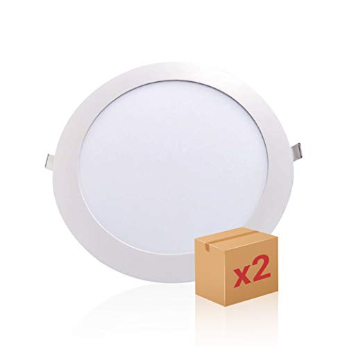 SECEIEL- Pack x 2 downlight led Placa LED Downlight 18W, luz Fria...