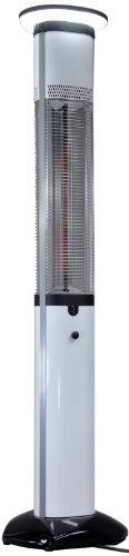 Infrarot Heizsäule Elektro Heizstrahler 3x900W Terrassenheizung inkl. Beleuchtung + Fernbedienung Standheizer Indoor Outdoor geeignet