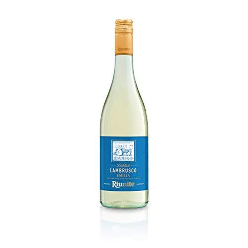 Lambrusco bianco RIUNITE dolce Dell`Emilia DOC 0,75 L - Vino Frizzante - Weißer Süßer Perlwein 7,5 {a677fdbebf8e6a7af266a4c877da61a4b2ebeb4fee2f582ec99ca5c917366b4c} Vol. aus Italien