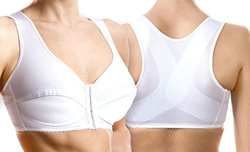 Soutien-Gorge correcteur de Posture avec support de Dos en X Art. 9595 Bonnet C - Blanc - Taille 6  88-92 cm