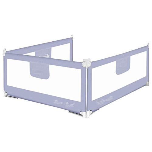 3er-Set für 3 Seiten (2 Längsseiten und 1 Fußseiten), Sicherheitsbettgitter für Kleinkinder, Kindersicherheitsgitter für das Bett, höhenverstellbar (Farbe: GRAU, Größe: 1,5X2,0X2,0M)