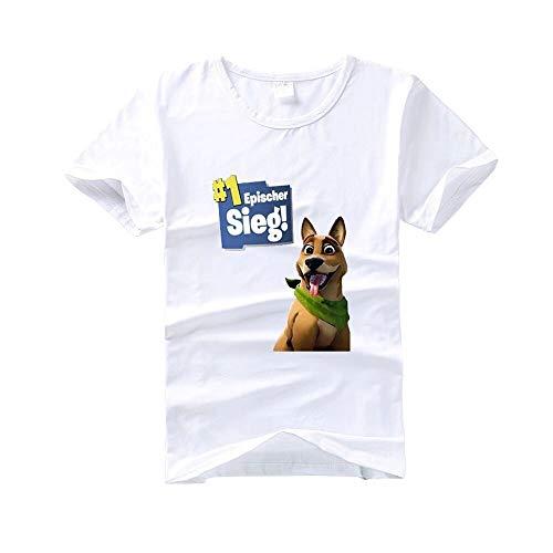 DaiShuGuaiGuai / Epischer Sieg/Herren T-Shirt/Unisex Kurzarm T-Shirt/Fun-T-Shirts (weiß) (XL - Brustumfang 100cm)