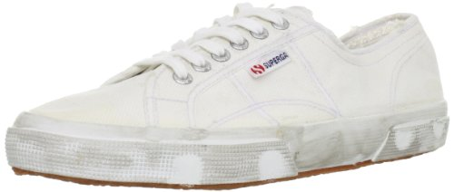 Superga 2750 Cotu Stone Wash, Chaussons Sneaker Adulte Mixte Bianco (bianco)
