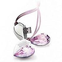 Elegante cuore d'amore usb 2.0, Capacità: 16GB/32GB/64GB/128GB capacità reale, gioiello Cuore di Cristallo, chiavetta usb 2.0, chiavetta Flash Drive pratica ed elegante , ideale per conservare i ricordi più cari o per un regalo di fidanzament...