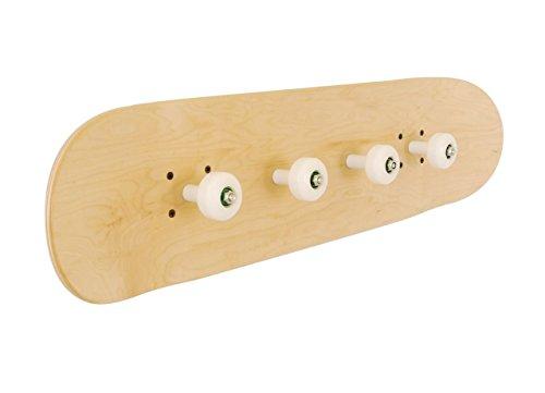 Skateboard Garderobenleisten mit Rädern Skate-Board. Natürliche