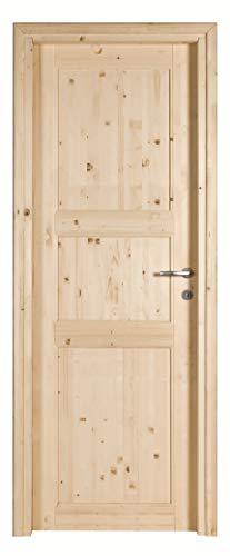 Kimono porta interna ecodoor 2.0 in legno massello di abete, reversibile destra o sinistra, misure (210 x 70)