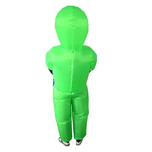 shuangfanbaihuo Halloween Alien und aufblasbare Anzug Ghost Man Requisiten Walking Show Requisiten Kostüm grün