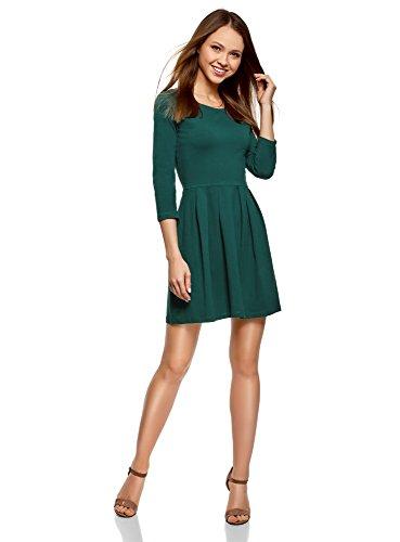 Damen Tailliertes Kleid mit Ausgestelltem Rock Grün