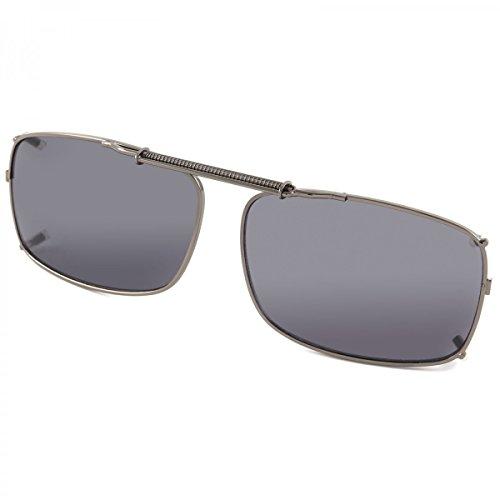 Polarisiert Sonnenbrille Brillen Aufsatz Polarized Clip On Brillen Aufsatz 21350, Farbe:Schwarz