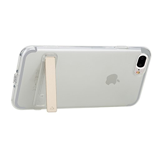 Hülle für iPhone 7 plus , Schutzhülle Für iPhone 7 Plus Transparent Ultrathin Soft TPU Schutzmaßnahmen zurück Fall mit Halter ,hülle für iPhone 7 plus , case for iphone 7 plus ( Color : Transparent ) Transparent