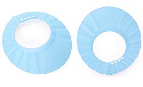 Kingko® Baby Shampoo Shower Cap Visor Shield Child Kid Safe Bathing Protect Colorful Soft Eva Hat for 0-6 years kids (Blue)