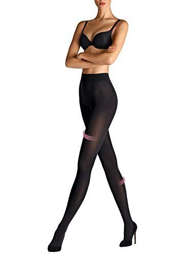 Wolford Velvet 66 Leg Support Tights blickdichte Damen Strumpfhose Stützfunktion- Gr. M (42-44), Schwarz