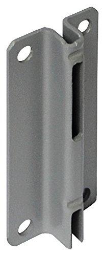 Home system 66258 supporti a muro per reggimensole a 2 ganci, nero, set di 2 pezzi