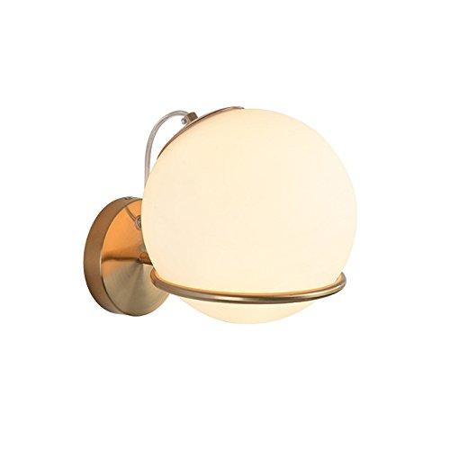 Moderne Mur Lumière LEDMetal Circulaire Simple Personnalité Décor Luminaire Mur Unique Lampe E27 Convient Pour La Maison Loft Couloir Chevet éclairage De La Salle De Séjour Abat-jour En Verre 3W
