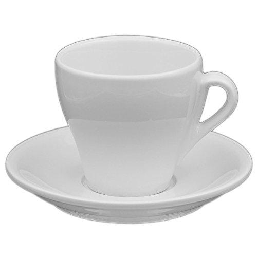 Holst Porzellan IT 004 FA2 Cappuccino-Set Italiano 0,18 l mit UTA 115, weiß, 14 x 14 x 8.5 cm, 2...