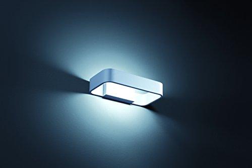 Rail Wandleuchte (Helestra LED Wandleuchte Rail Silbergrau | LEDs fest verbaut 4W 540lm warmweiß | A18251.46)