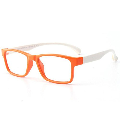 HJXJXJX Männliche Tochter Tong Pingguang Spiegelrahmen Silikon-Material für Kinder Retro-Brillenfassungen , C