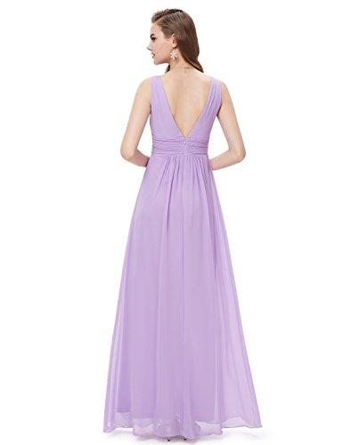 Ever Pretty Robe de Soirée en Double V-col de Style Empire 08110 Violet clair