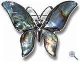 Schmetterling Brosche aus echtem Perlmutt aus kontrollierter Muschelfarm aus Pauamuschel - nickelfrei -