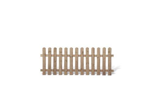 meingartenversand.de Klassische Vorgartenzäune + Friesenzäune günstig Maß 200 x 80 cm (Breite x Höhe) aus Kiefer/Fichte Holz, druckimprägniert + genagelt