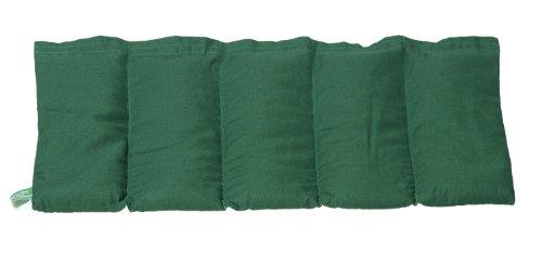 Wärmekissen Roggenkissen Körnerkissen Roggen 50x20cm (dkl.grün)