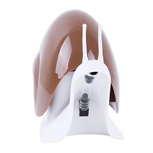 LJSLYJ Cartoon Schnecke Form Flüssigseife Spender, Squeeze Typ Automatische Flüssigseife Spender für Shampoo, Conditioner, Flüssigkeit und Lotion, Braun -