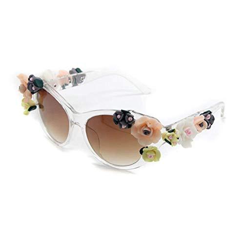 JYTBD Sport Outdoor-Produkte/Persönlichkeit Sonnenbril Mode Frauen mädchen Blume Sonnenbrille Retro Edelsteine   Sonnenbrille Sommer Strand Brille Brillen (Color : 2)