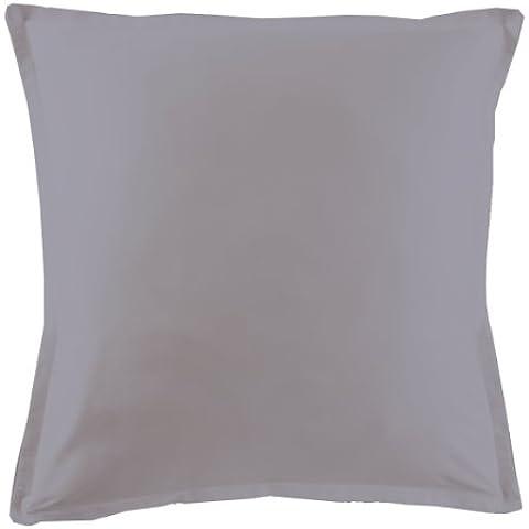 Essix Home Collection - Federa in cotone percalle, misure a scelta, argento, 50 x 70 cm