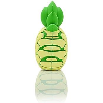"""iProtect chargeur externe batterie de secours émôticone emoji 2000 mAh """"Ananas jaune""""- pour smartphones et autres appareils dotés d'un port USB - câble de charge micro USB inclus"""