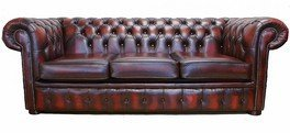Chesterfield 3 Seater Sofa Bed Antique Oxblood from Chesterfield