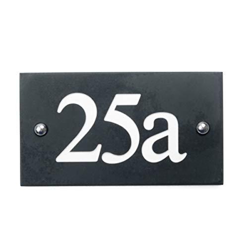 The House Nameplate Company Numéro de Maison Ardoise Noir 100–999