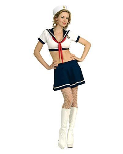 Horror-Shop First Class Marine Offizierin Kostüm mit Hut für Damen - Erste Offizier Kostüm