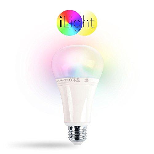 s.LUCE iLight E27 LED-Leuchtmittel 12W RGB+CCT LED-Lampe Farbwechsel & Dual White Funk Funksteuerung Dimmbar Farbsteuerung Dual-white Led