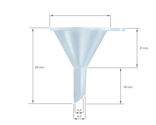 3x Mini Trichter zum Umfüllen und Abfüllen von Flüssigkeiten wie Tinten - 4