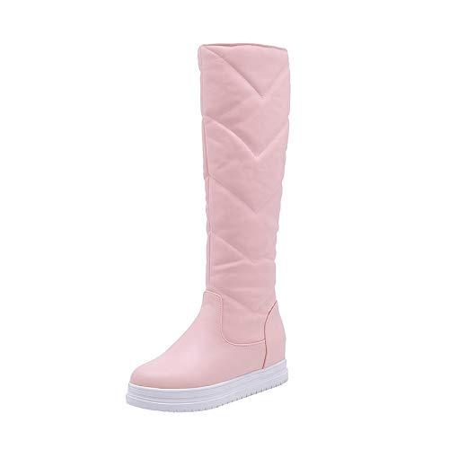 HAOLIEQUAN Snow Boots Fashion Frauen Schuhe Runder Frauen Über Die Stiefel Passen Frauen Schuhe Größe 34-43,Rosa,40