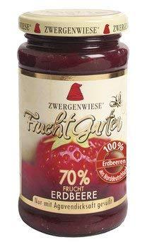 Zwergenwiese Bio Fruchtaufstrich Fruchtgarten Erdbeere, 225 g