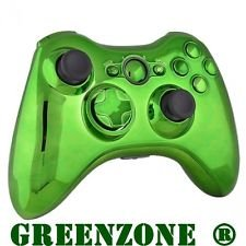 greenzone-r-chrome-green-xbox-360-controller-shell-with-matching-buttons-mod-kit-uk-company