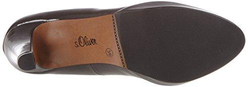 s.Oliver 22400, Scarpe con Tacco Donna Grigio (DK GREY PATENT 205)