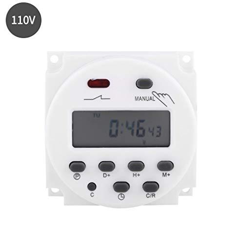Preisvergleich Produktbild Werst Elektronischer Zeitschaltuhr,  programmierbar,  Zähler,  Zeitsteuerung,  Relaisschalter,  digitales LCD-Display,  Leistung 12 / 24 / 110 / 220 V