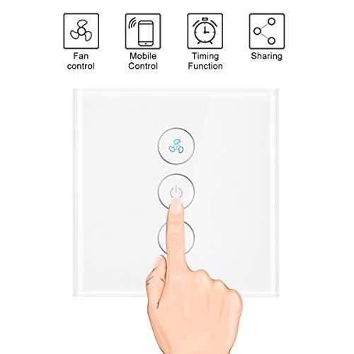 WiFi Smart Switch Para La Aplicación Del Ventilador De Techo Temporizador Remoto...