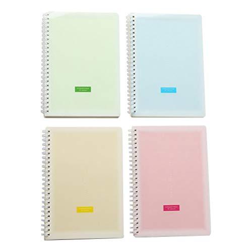 NUOBESTY 4 STÜCKE Tragbare Nette Spule Notizblock Memo Notebook Zeitplan Checkliste für Home School Office - Größe Kleine -