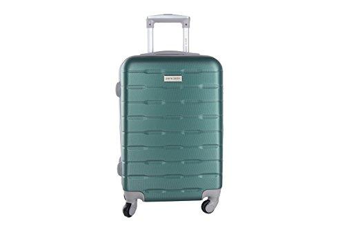 Maleta rígida PIERRE CARDIN verde mini equipaje de mano ryanair 4 ruedas VS15