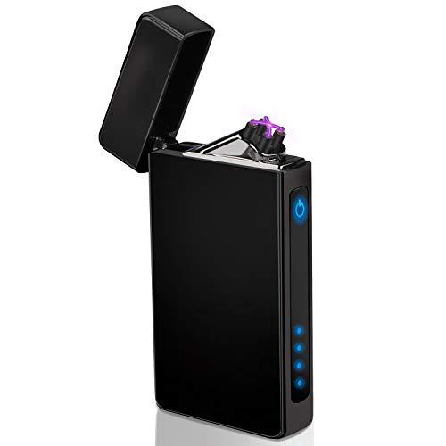 WisFox Accendino, Accendino ad Arco Elettrico, accendini elettrici Ricaricabili USB Antivento, Sigaro, Sigaretta, Accendino a Candela per Interni ed Esterni (Nero)
