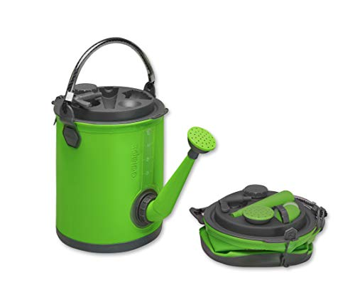 Colapz 3-in-1 faltbarer Wasserbehälter -Wasserkanister als Camping-Zubehör - Gießkanne und Eimer für den Wohnwagen - Wasserspender mit Hahn - Grün