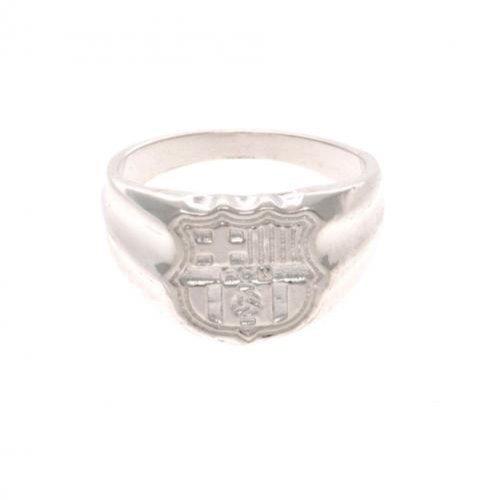 Geschenk-Set, offizielles FC Barcelona Ring Sterling-Silber 925, mittlere Größe, ideal als Geschenk für Fußball Lüfter Sterling Silber Baby-ringe Größe 4