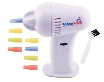 WAX VAC 2x1 Vacuum ears cleaner- with 16 silicone sleeves in different colors and 2 cleaning brushes - Original Product seen on TV.