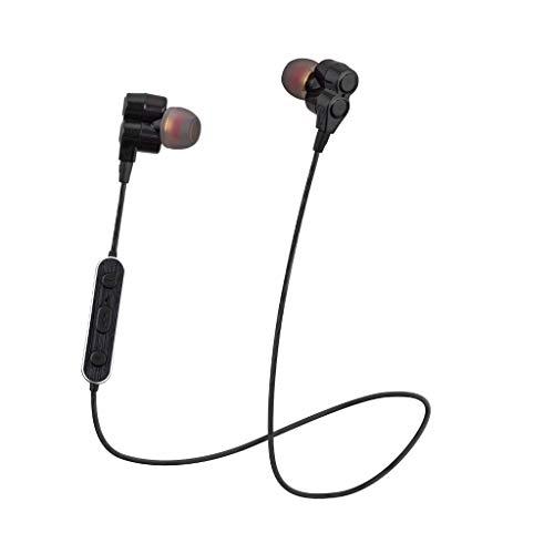 HIFI In-Ear-Stereo-Kopfhörer Ohrhörer Mini Dual Driver Sport-Headset mit Mikrofon (Schwarz)